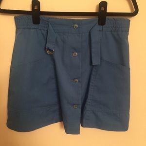 Vintage Button Front Mini Skirt